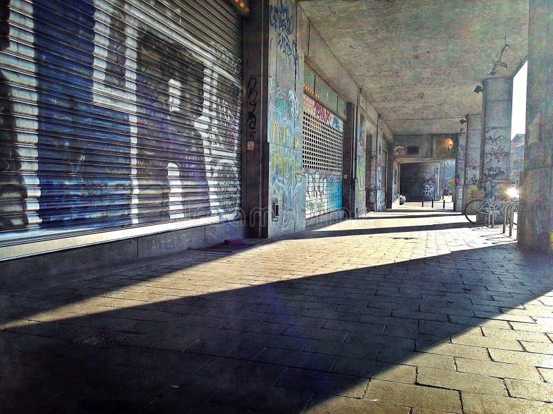 Graffiti-Gasse stockfotografie