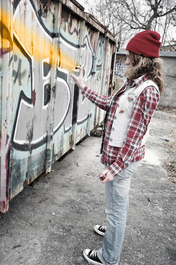 Download Graffiti Girl stock photo. Image of dependency, adult - 20314514