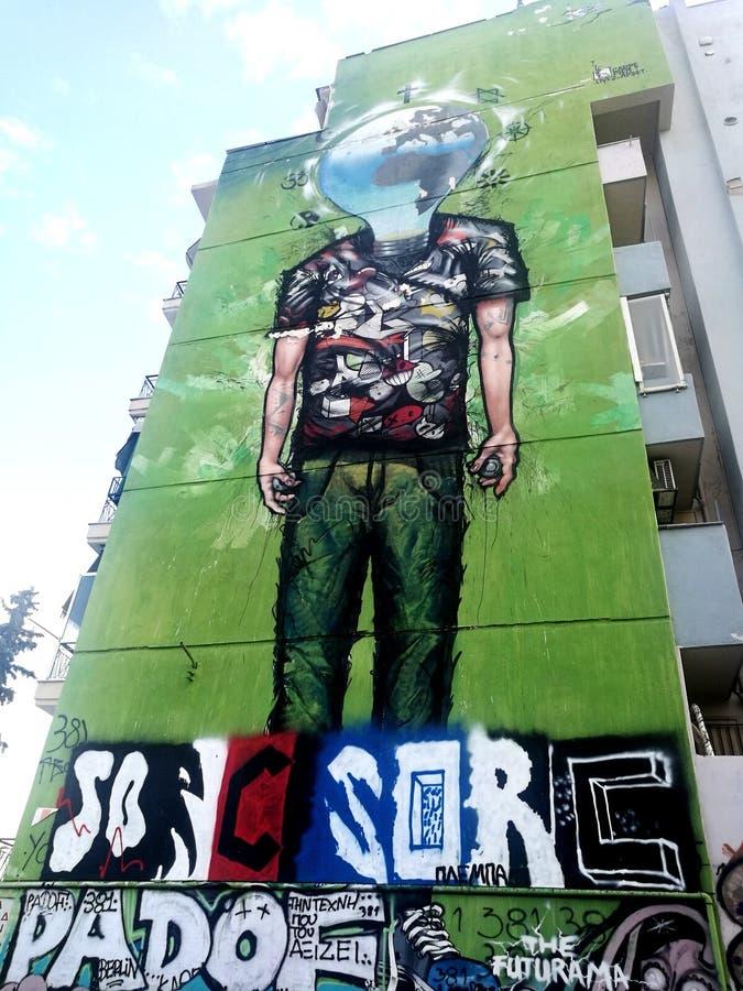 Graffiti globali di mindset immagine stock