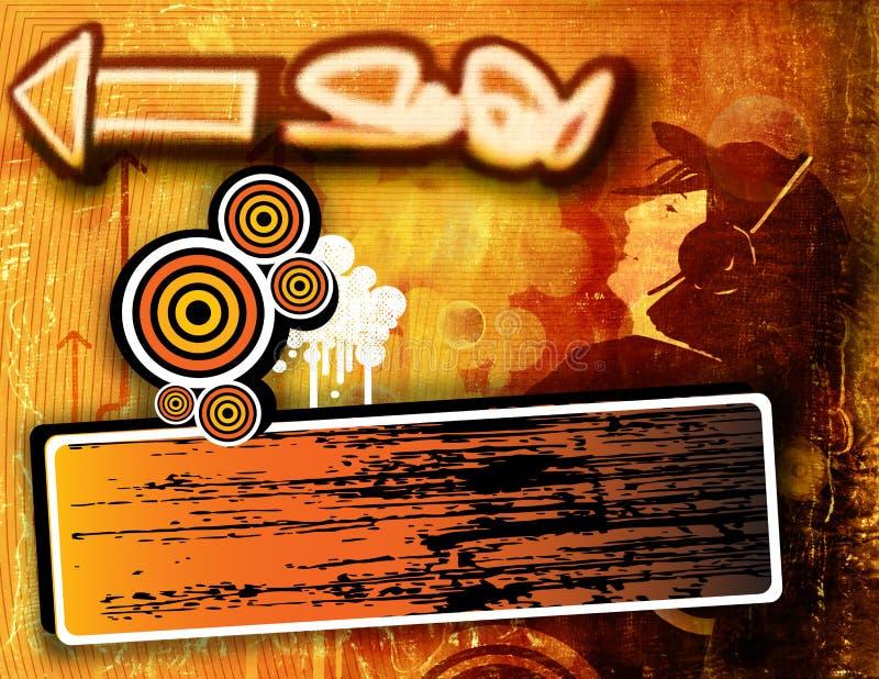 Graffiti grunge Hintergrund lizenzfreie abbildung