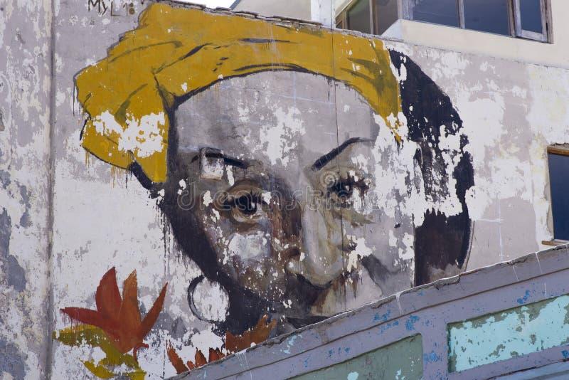 Graffiti in Havana Cuba anziana fotografia stock libera da diritti