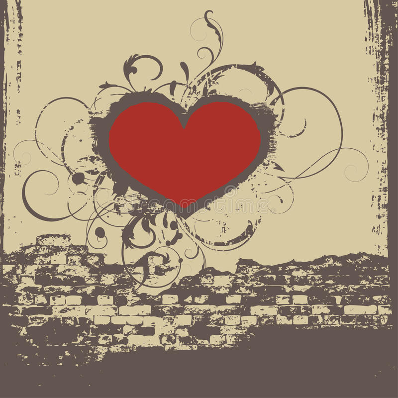 Graffiti heart stock illustration