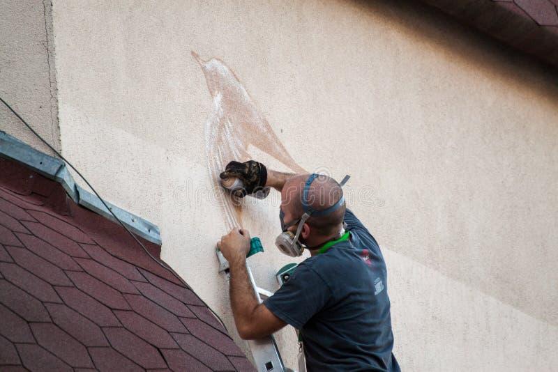 Graffiti het maken stock foto's