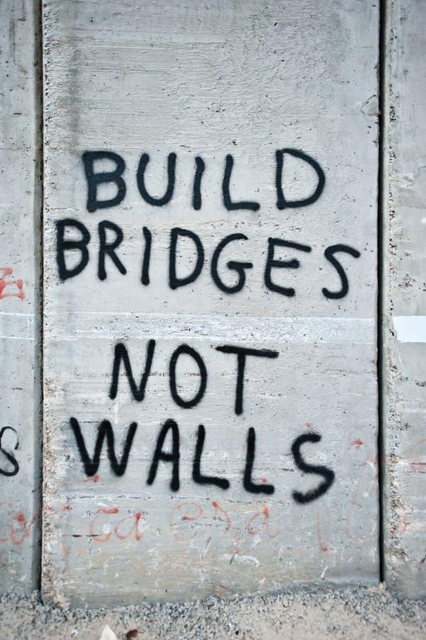 Graffiti on Israeli Separation Barrier stock photos