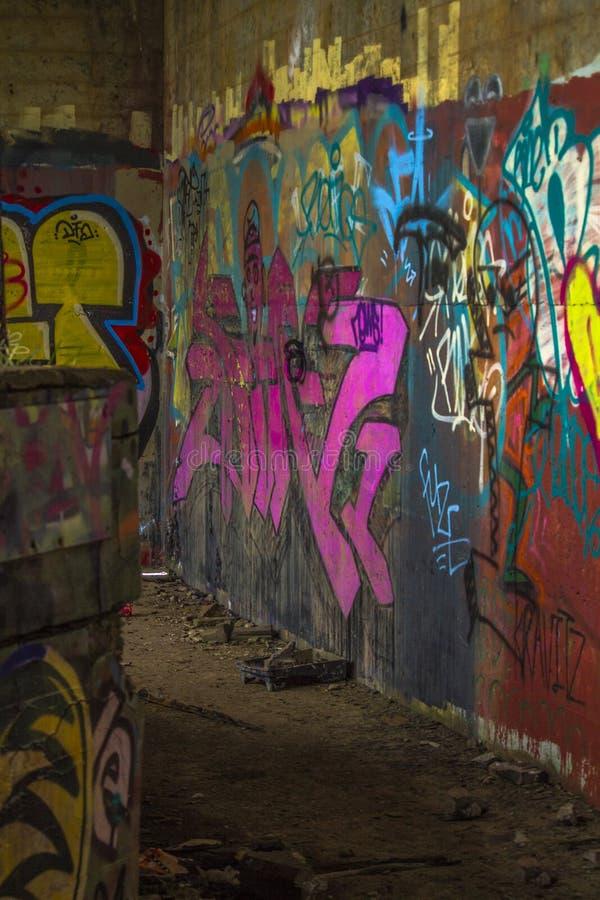 Graffiti jama obraz stock