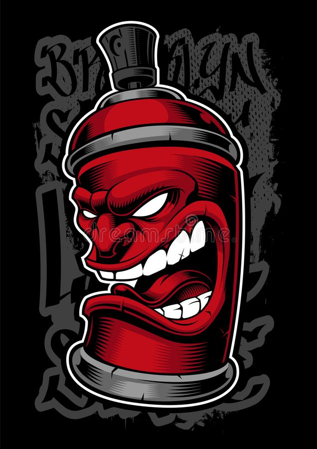 Graffiti kiści potwór ilustracji