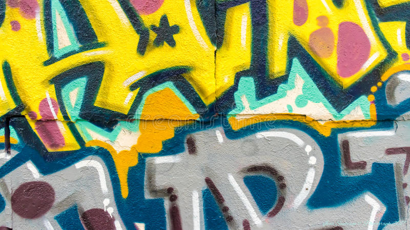 Graffiti kolory i linie obraz stock