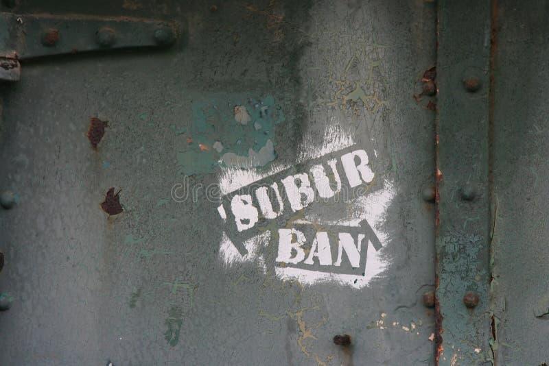 Graffiti-Konzept des städtischen Zerfalls lizenzfreie stockfotografie