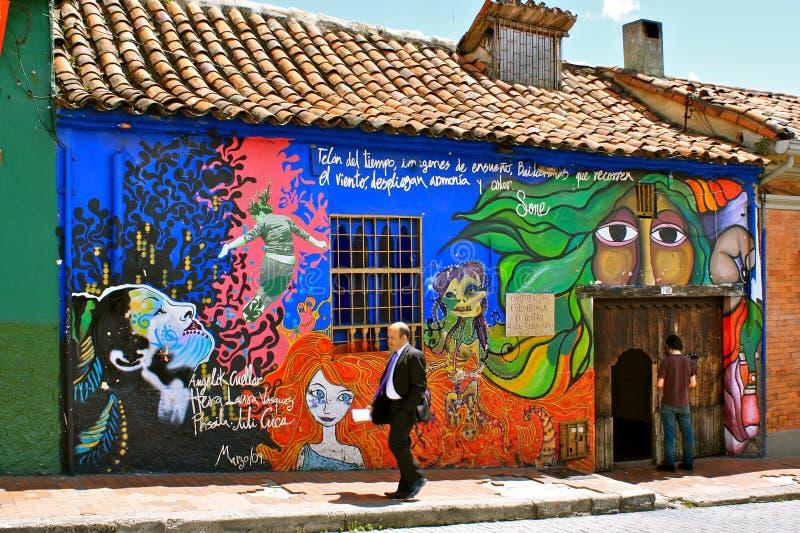 Graffiti in La Candelaria, Bogotá, Colombia royalty free stock photography
