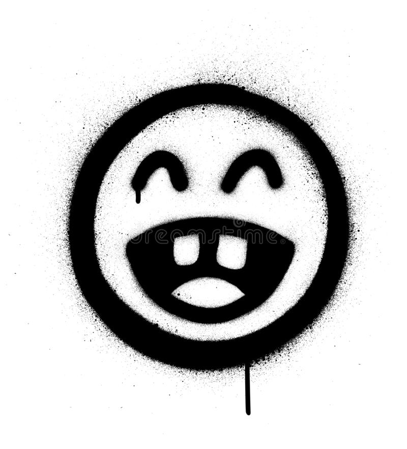 Graffiti laughing out loud icon sprayed in black over white royalty free illustration