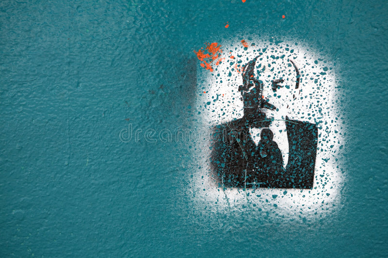graffiti Lenin fotografia royalty free