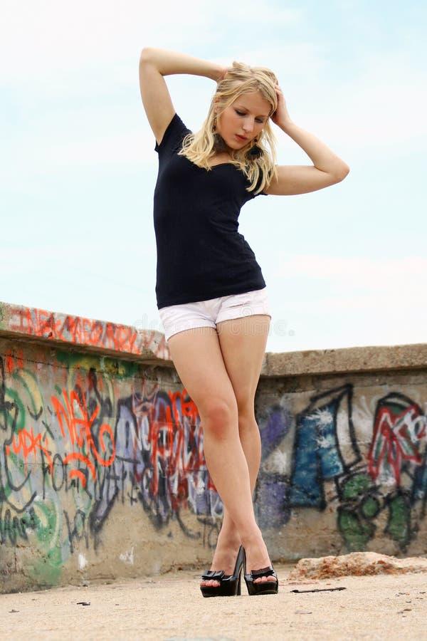 Graffiti-Mädchen stockfotografie