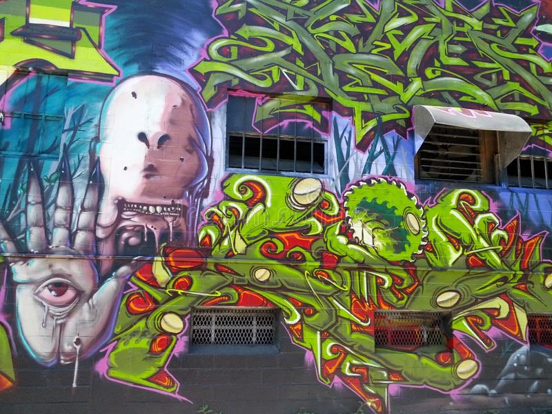 Graffiti Mural SA fotografia de stock