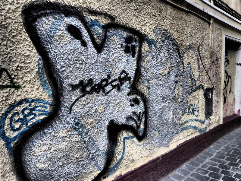 Graffiti na ścianie zdjęcia stock