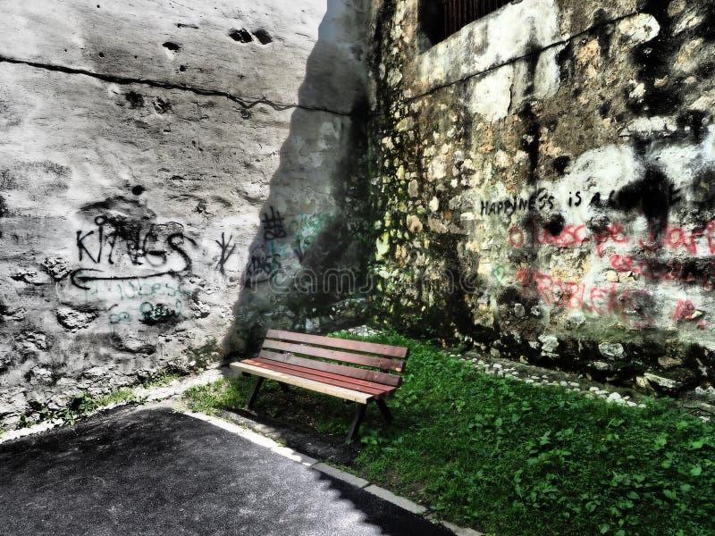 Graffiti na ścianie zdjęcia royalty free
