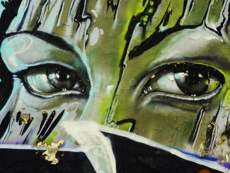 Graffiti na ścianie Serbia, Belgrade, 16 2018 Luty obraz stock