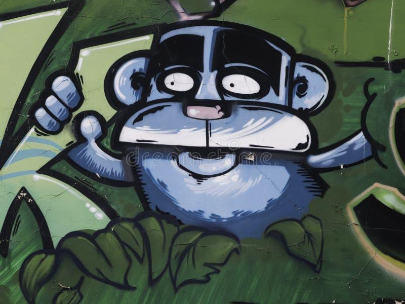 Graffiti na ściennym Serbia, Belgrade, 16 2018 Luty obrazy stock