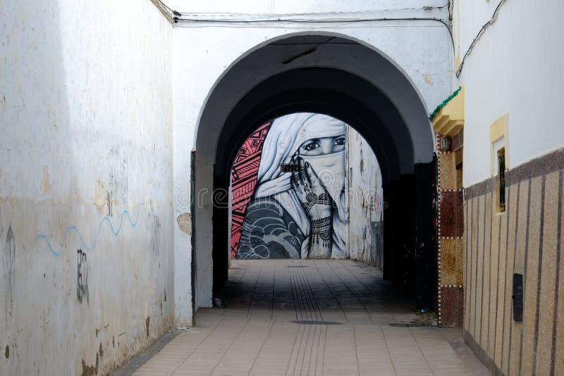 Graffiti na ulicach Rabat, Maroko zdjęcia royalty free