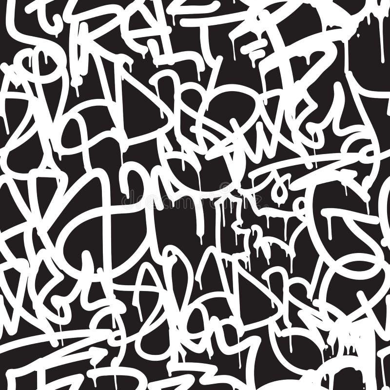 Graffiti naadloos patroon Als achtergrond royalty-vrije illustratie