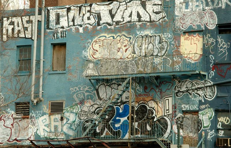 Download Graffiti on a NYC Building editorial stock image. Image of artists - 20725484