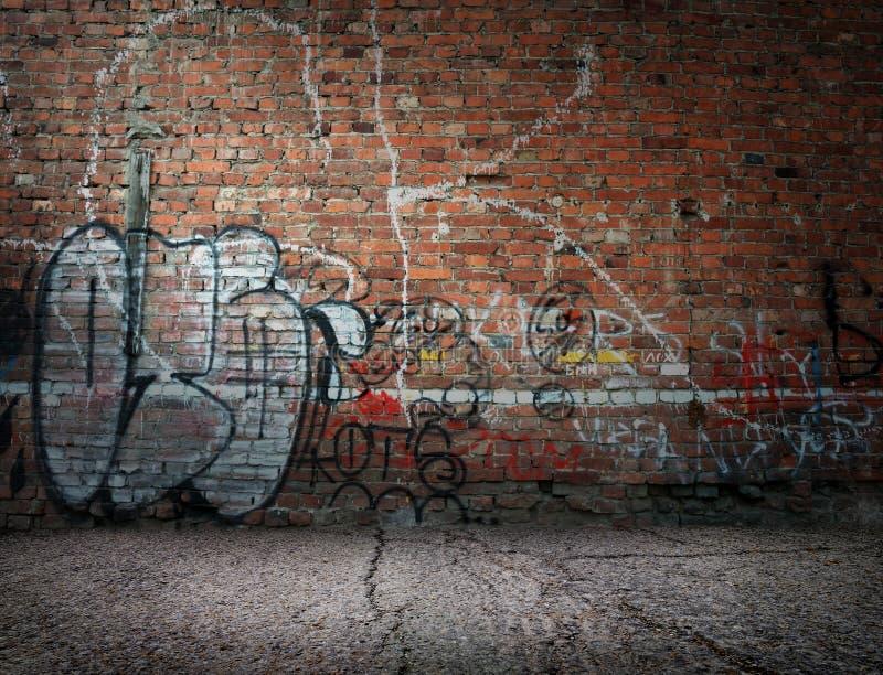 Graffiti op de muur stock foto's
