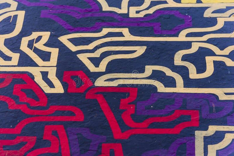 Graffiti op een muur stock foto's