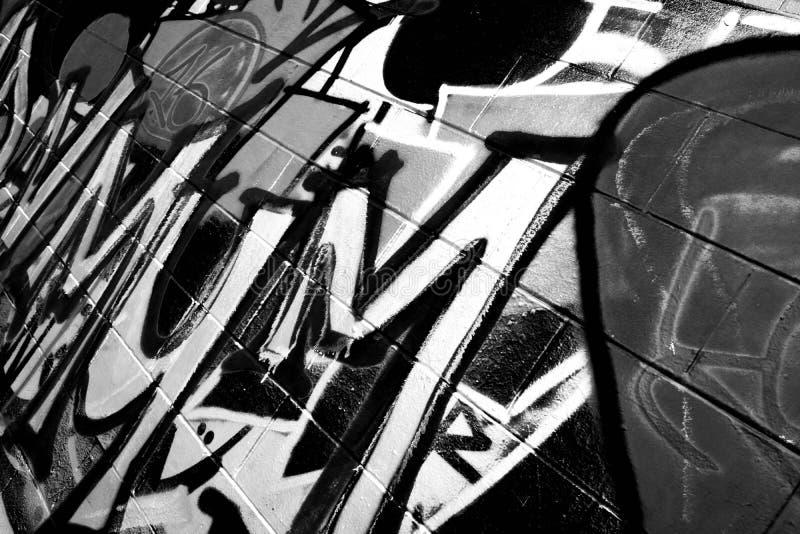 Graffiti op Tennisbaan stock afbeelding