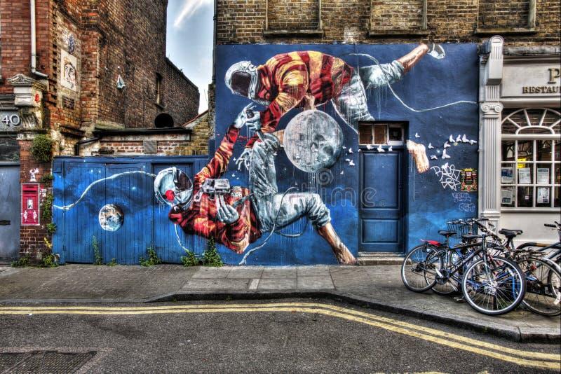Graffiti orientali di Londra immagini stock libere da diritti