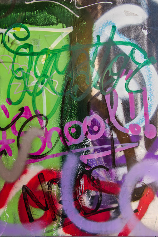 Graffiti painted or Overlay. Graffiti detail to overlay colored stock illustration