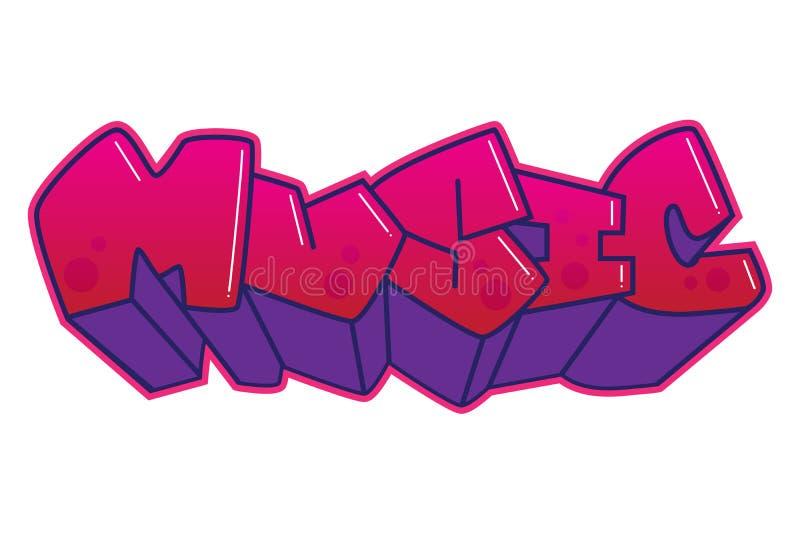 graffiti Palavra da música ilustração royalty free