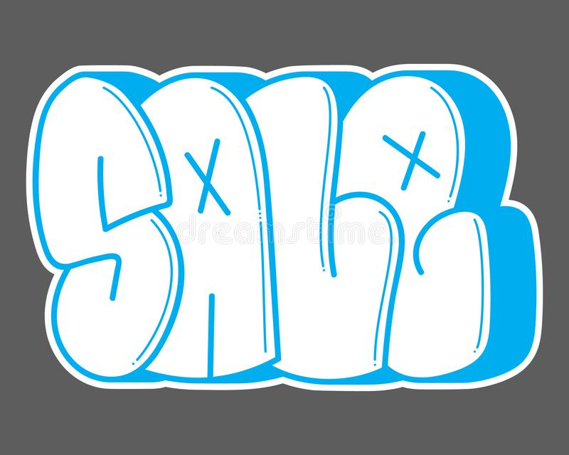 graffiti Palavra da venda ilustração stock