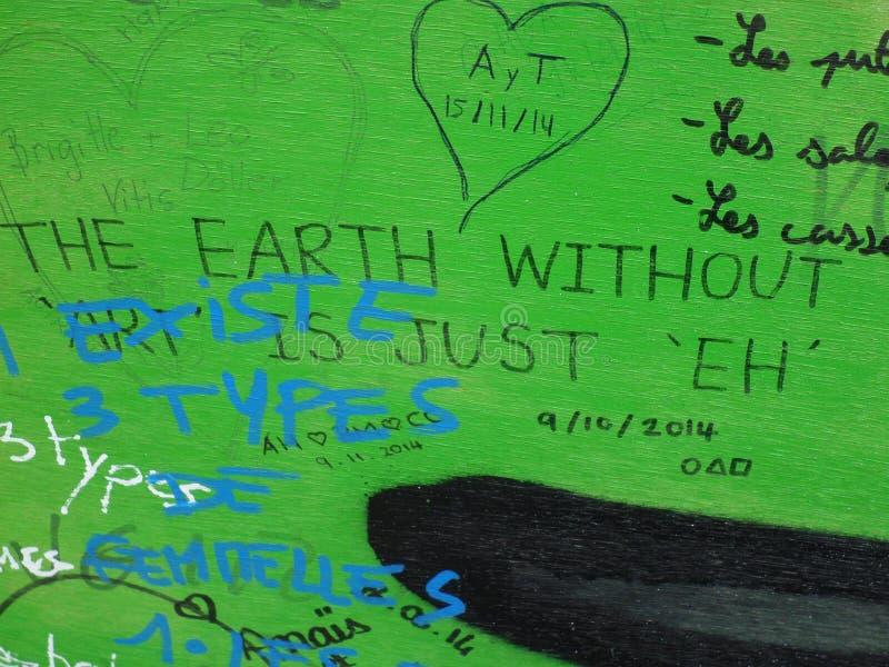 Graffiti Paris de rue image libre de droits