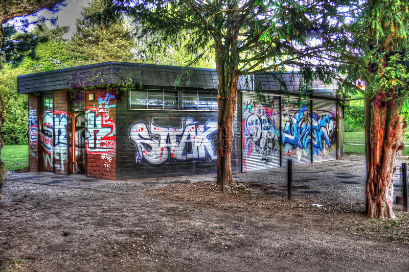 Graffiti Park. The Image is created in Germany with HDR Technology. Castle Park - Moers, Germany stock images