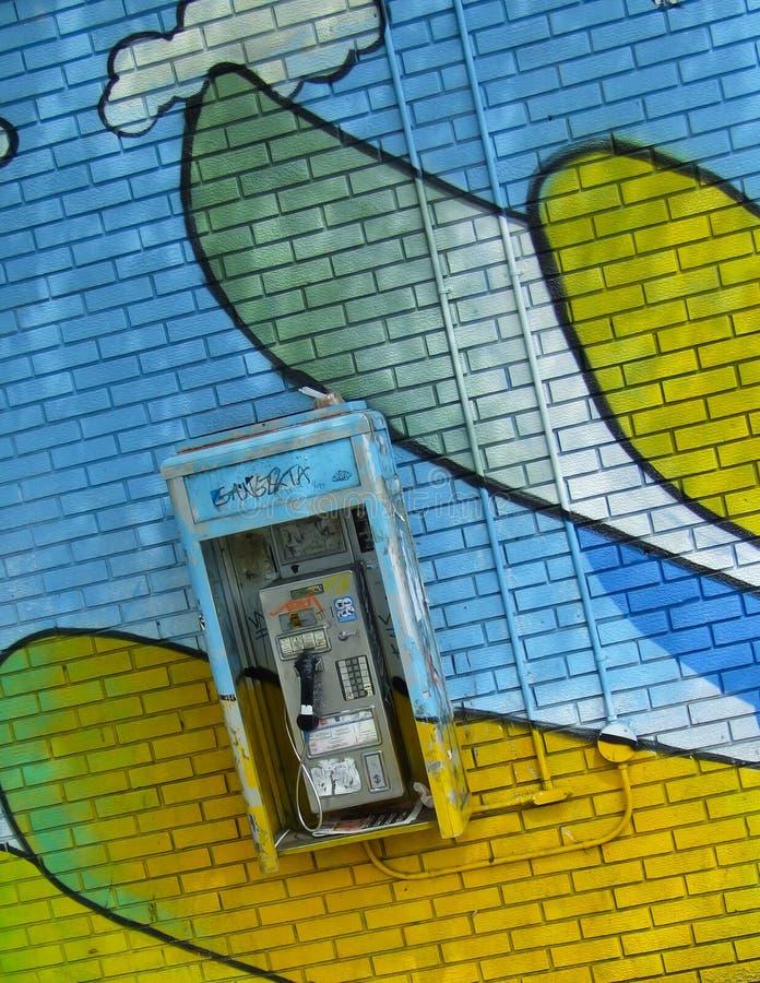 Free Graffiti Pay Phone Stock Photo - 20559690