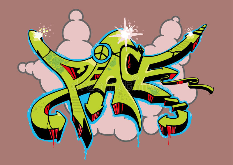 Graffiti Peace royalty free stock photo