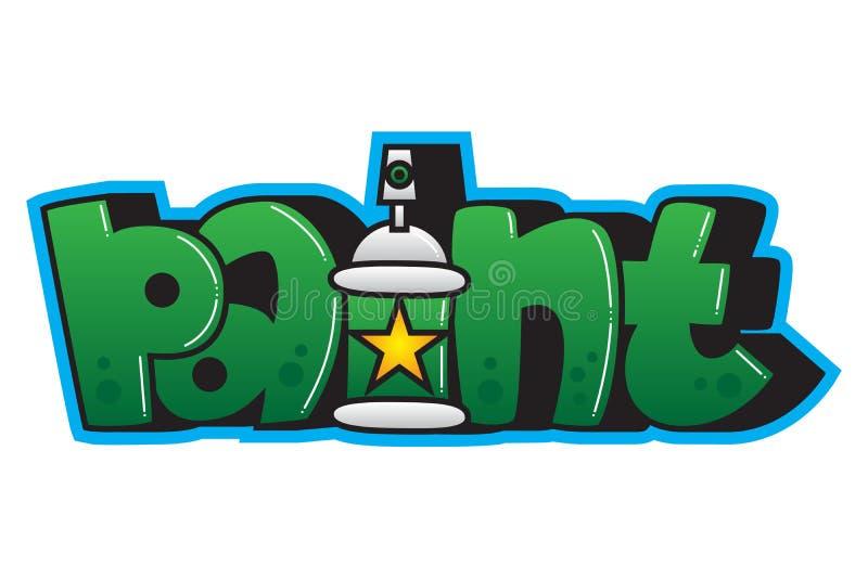 graffiti Peignez le mot illustration de vecteur
