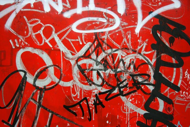 graffiti pozioma czerwony obraz stock