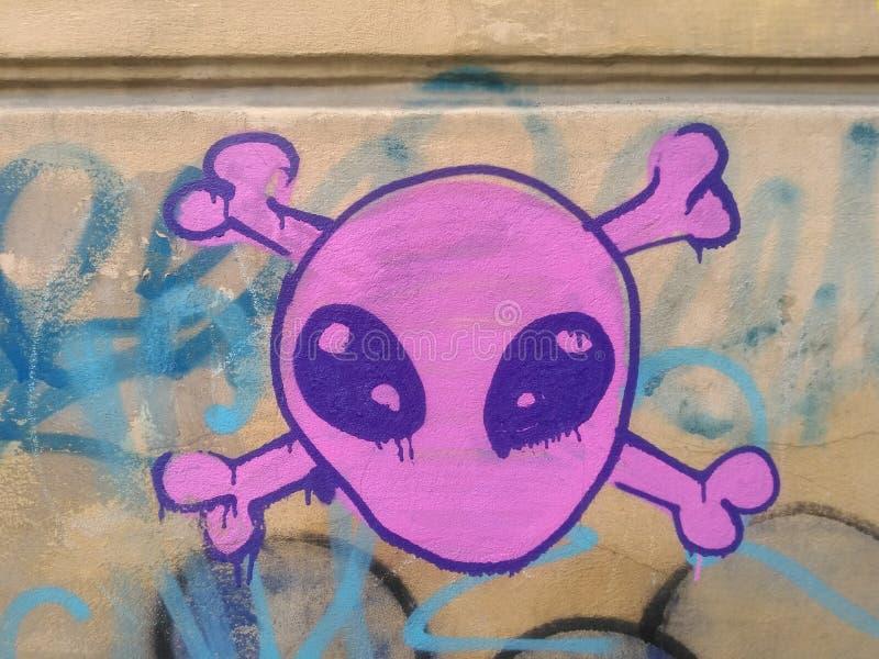 Graffiti principal étranger images libres de droits