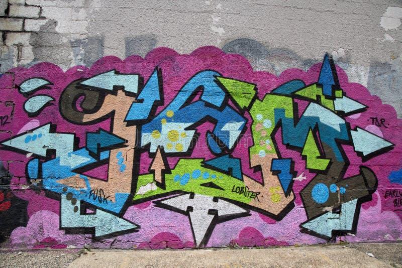 Graffiti przy Wschodnim Williamsburg w Brooklyn fotografia royalty free
