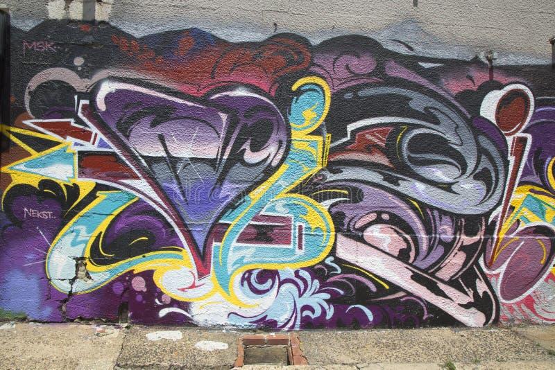Graffiti przy Wschodnim Williamsburg w Brooklyn zdjęcie stock
