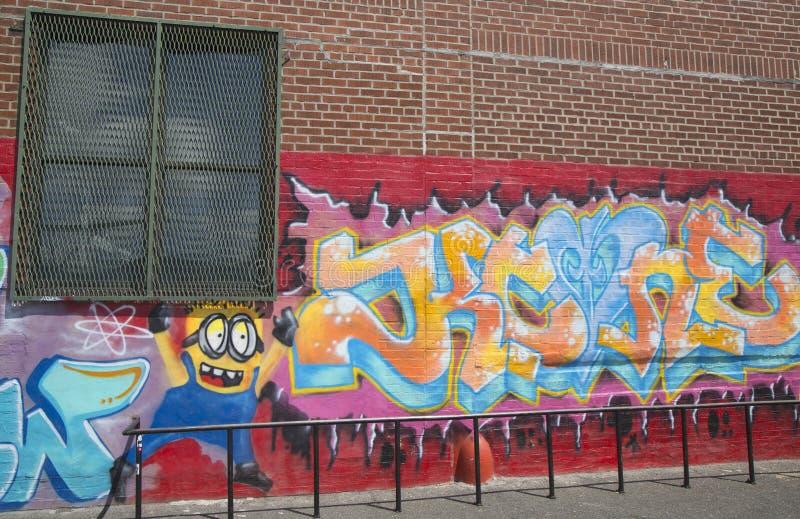 Graffiti przy Wschodnim Williamsburg w Brooklyn obrazy royalty free
