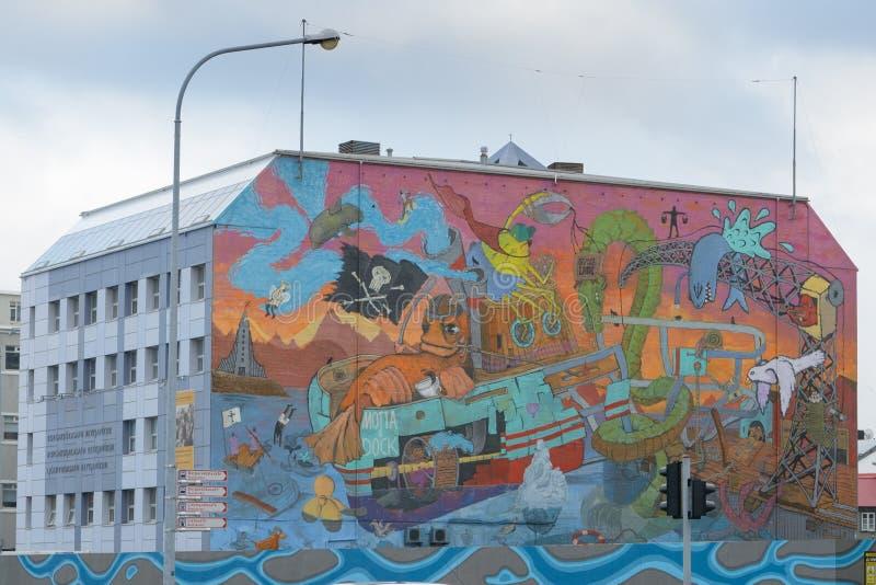 Graffiti in Reykjavik lizenzfreie stockbilder