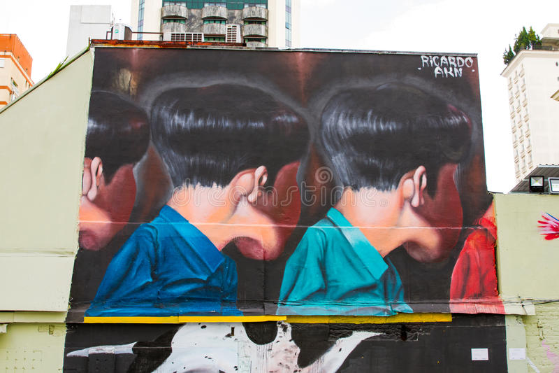 Graffiti Sao Paulo royalty-vrije stock fotografie