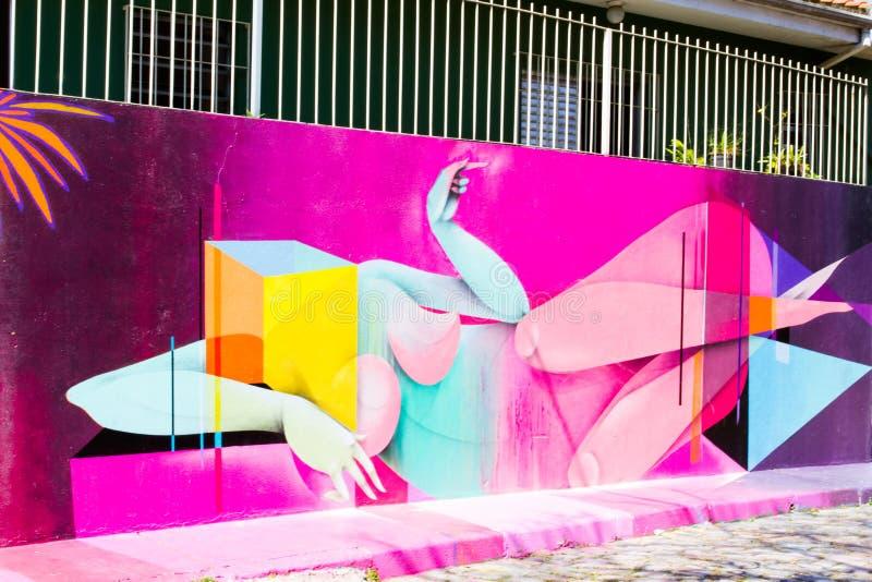 Graffiti Sao Paulo stock afbeeldingen