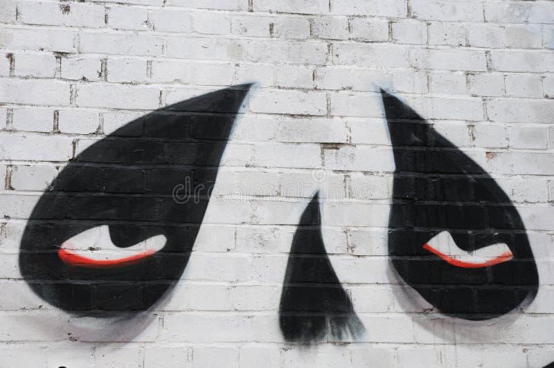 Graffiti in Sclater Straat, Londen royalty-vrije stock fotografie