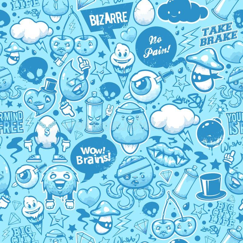 Graffiti seamless texture vector illustration