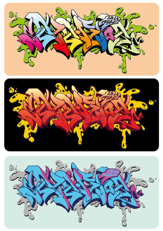 Graffiti Selektor stock illustratie