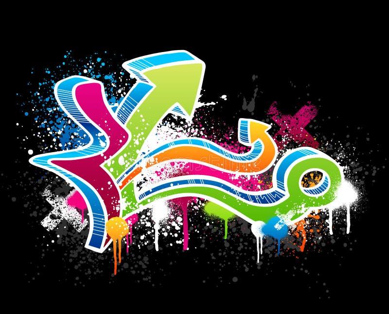 Graffiti sketch royalty free illustration