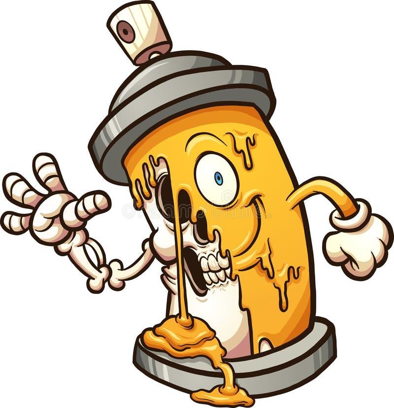 graffiti spray can stock vector illustration of clip 89154901 rh dreamstime com