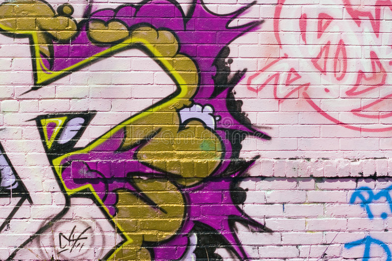 Graffiti Spraypaint. Graffiti texture - works great as a background or backdrop in any design royalty free stock photos